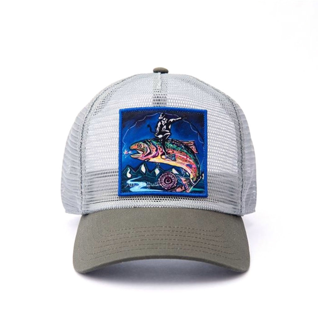 Art 4 All Trout Rodeo Mesh Trucker