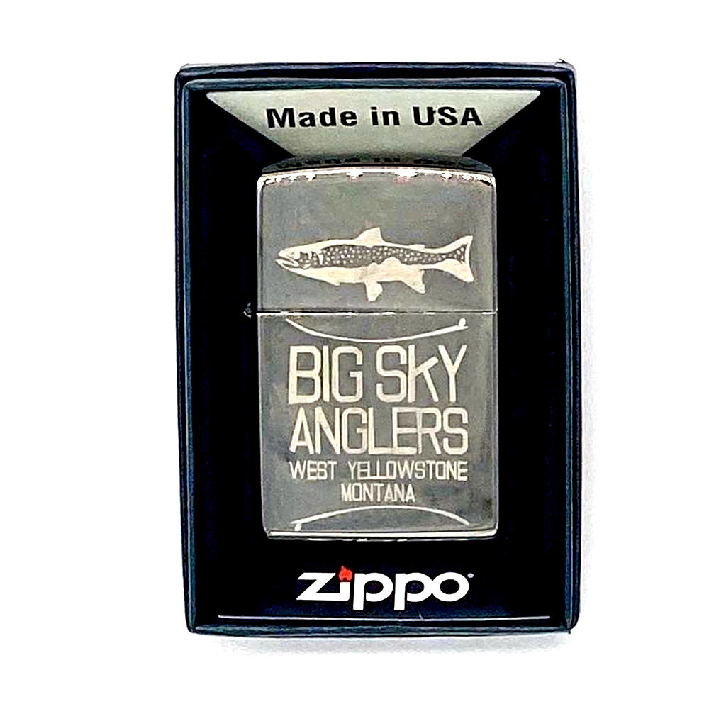 Big Sky Anglers BSA Logo Zippo Lighter