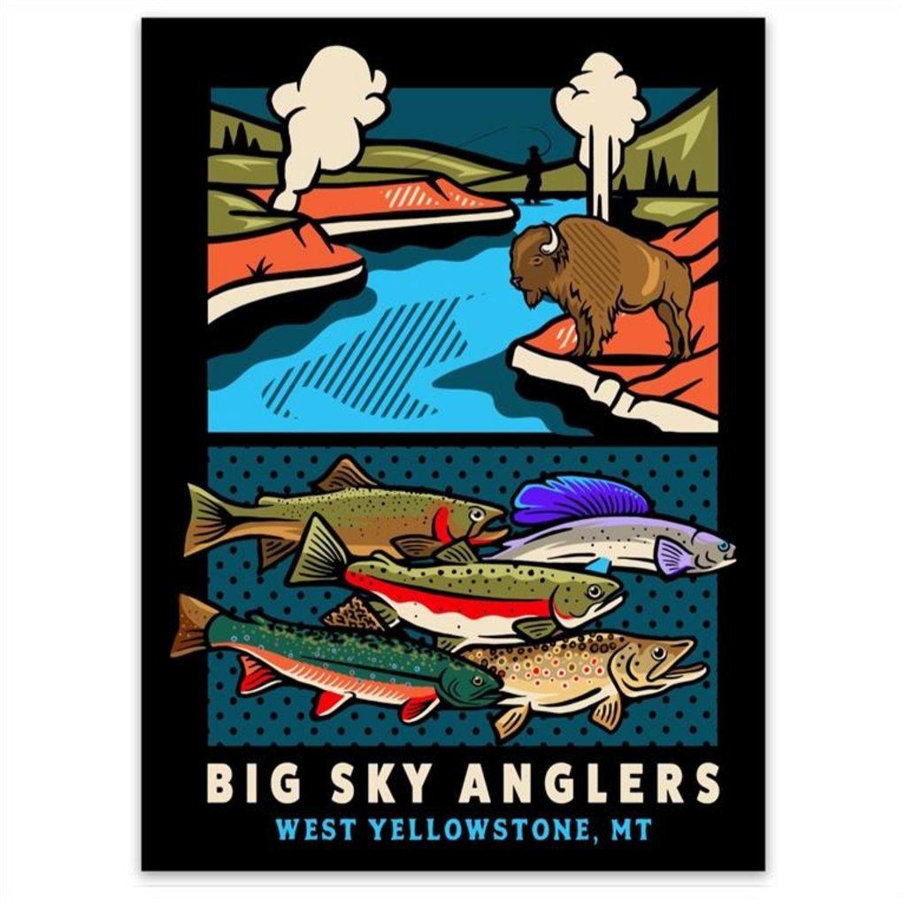 Big Sky Anglers BSA Yellowstone Experience Sticker