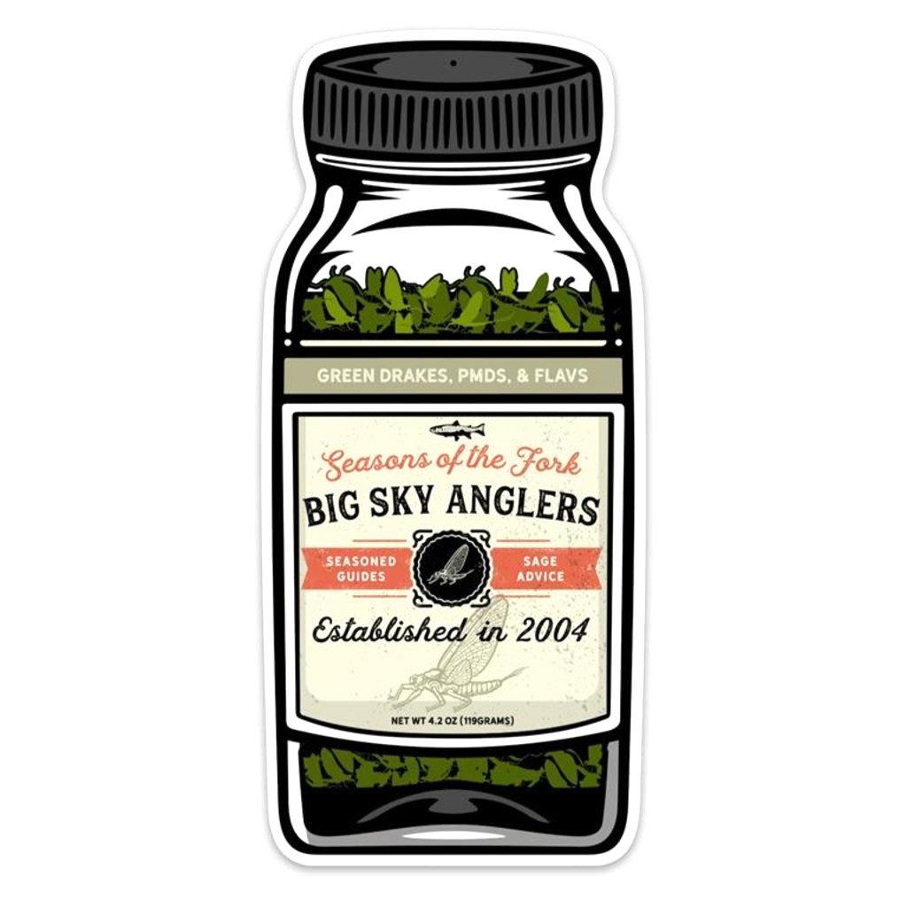 Big Sky Anglers BSA Seasons Of The Fork Sticker