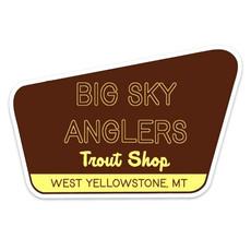 Big Sky Anglers BSA Brown Sign Sticker