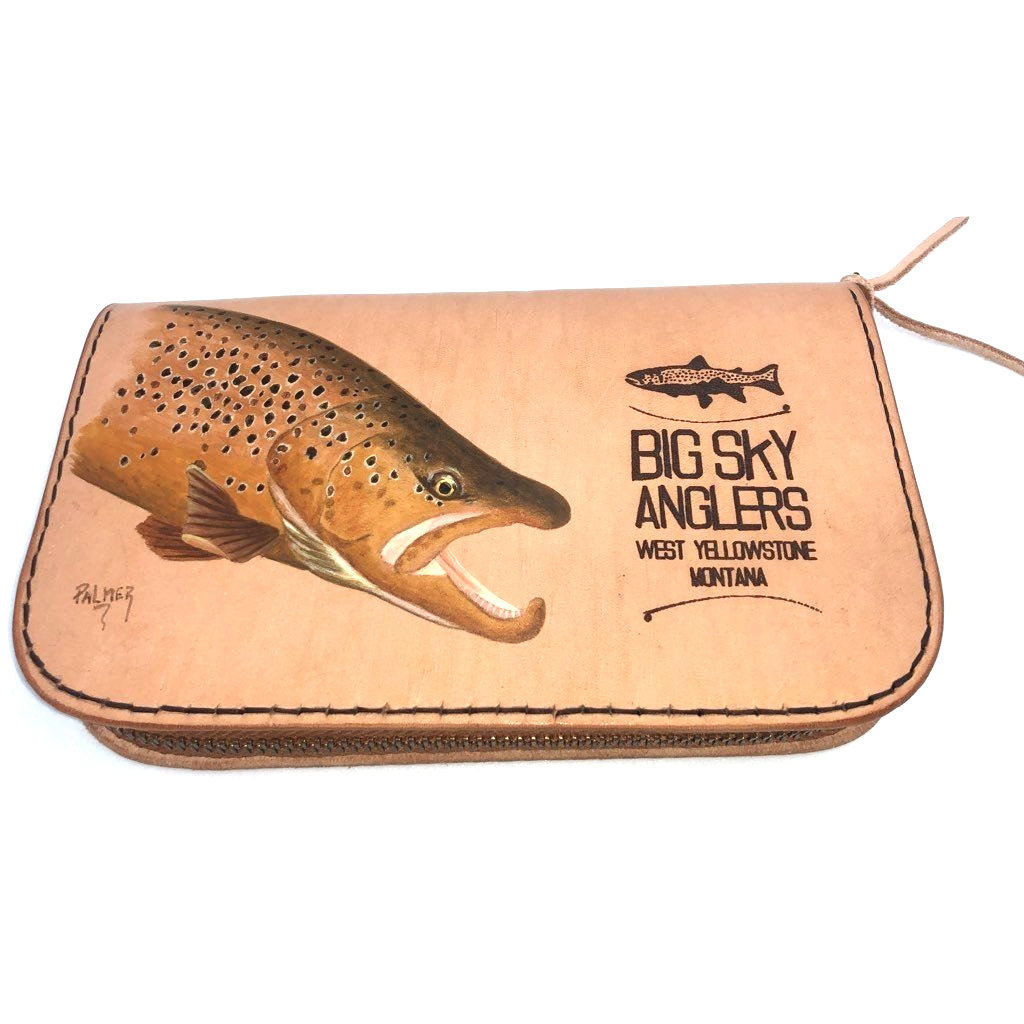 Big Sky Anglers Toti Palmer Hand Crafted Leather Fly Wallet
