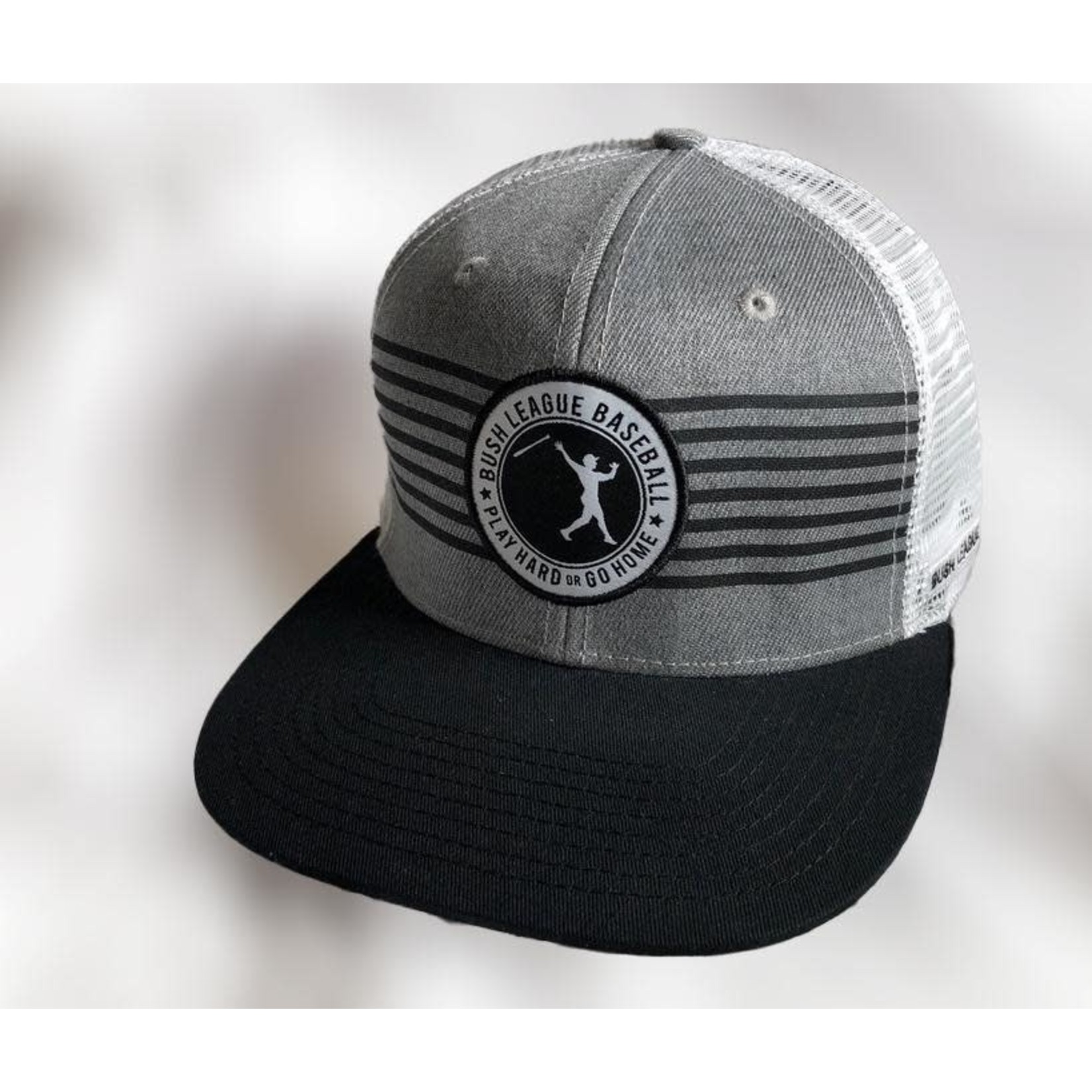 Classic Grey Stripes - Snapback Hat
