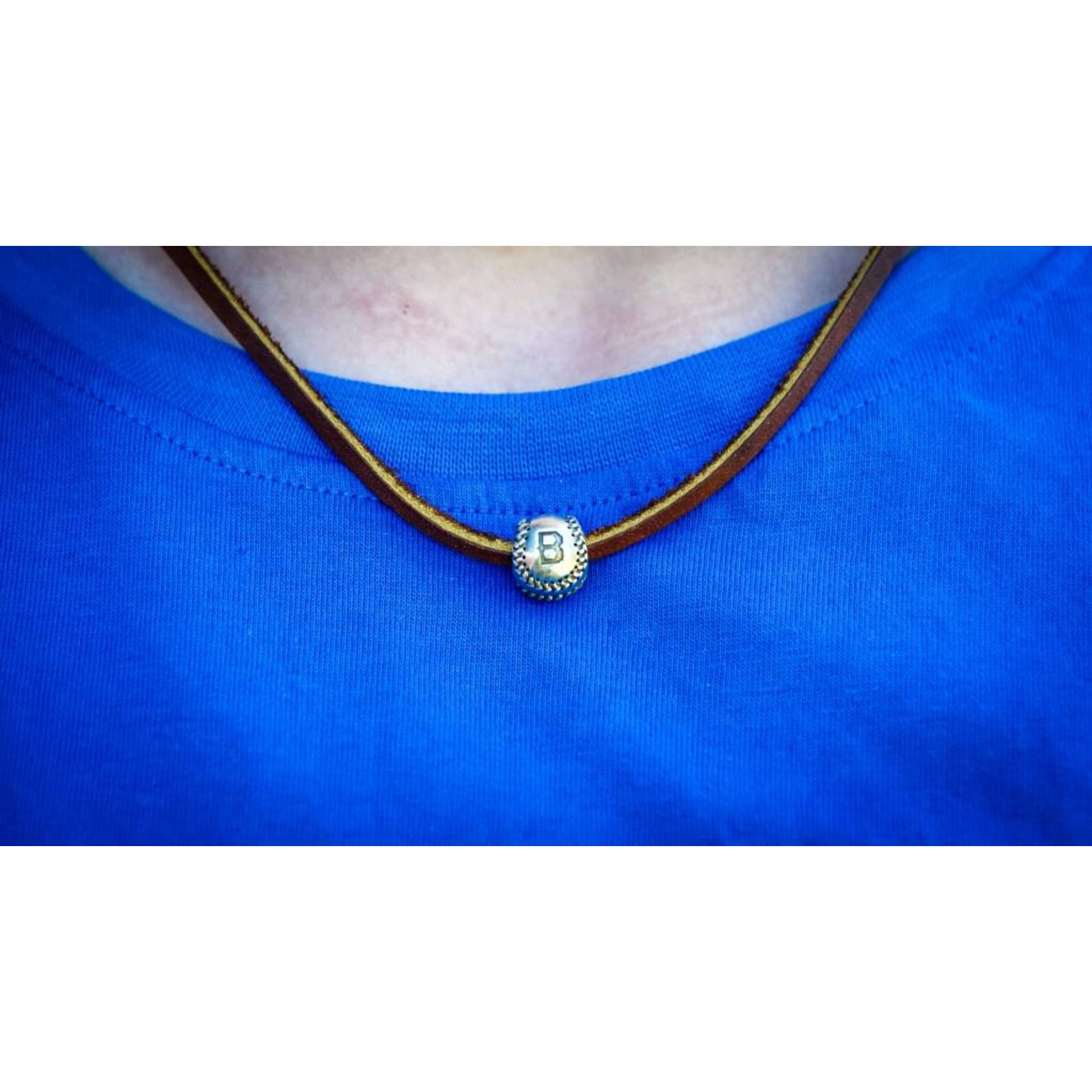 Silver Baseball Necklace