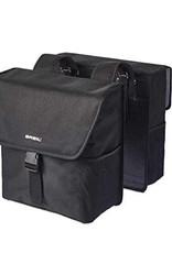 Basil Panniers Go Double Bag Black (pair)