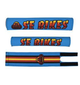 SE BIKES Pad Set BMX Bikes Blue/Multi