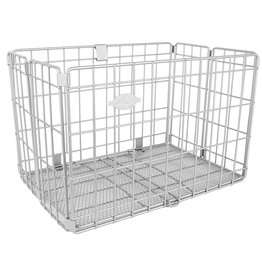 Basket Rear Folding Silver