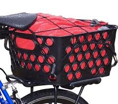Bikase Basket Rear Rack Top Dairyman QR Black