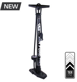 Floor Pump Tier 1 Smart Head W/ gauge Blk