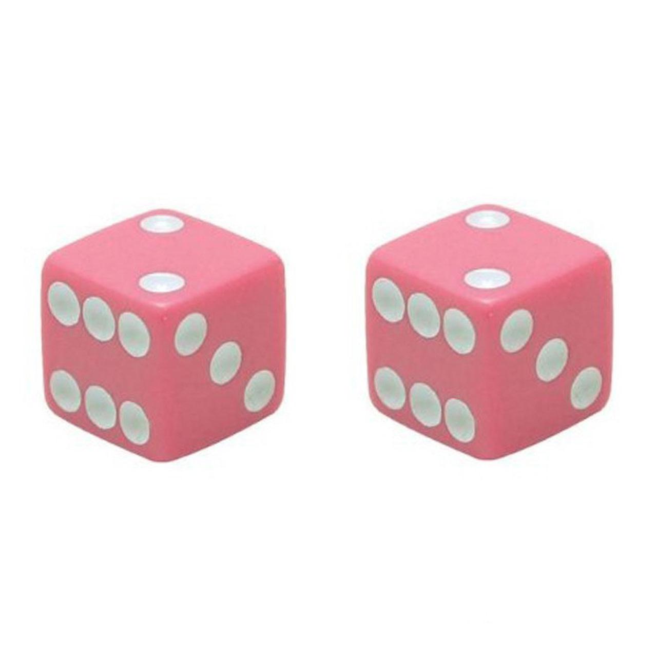 Trik Topz Valve Caps - Dice - Pink