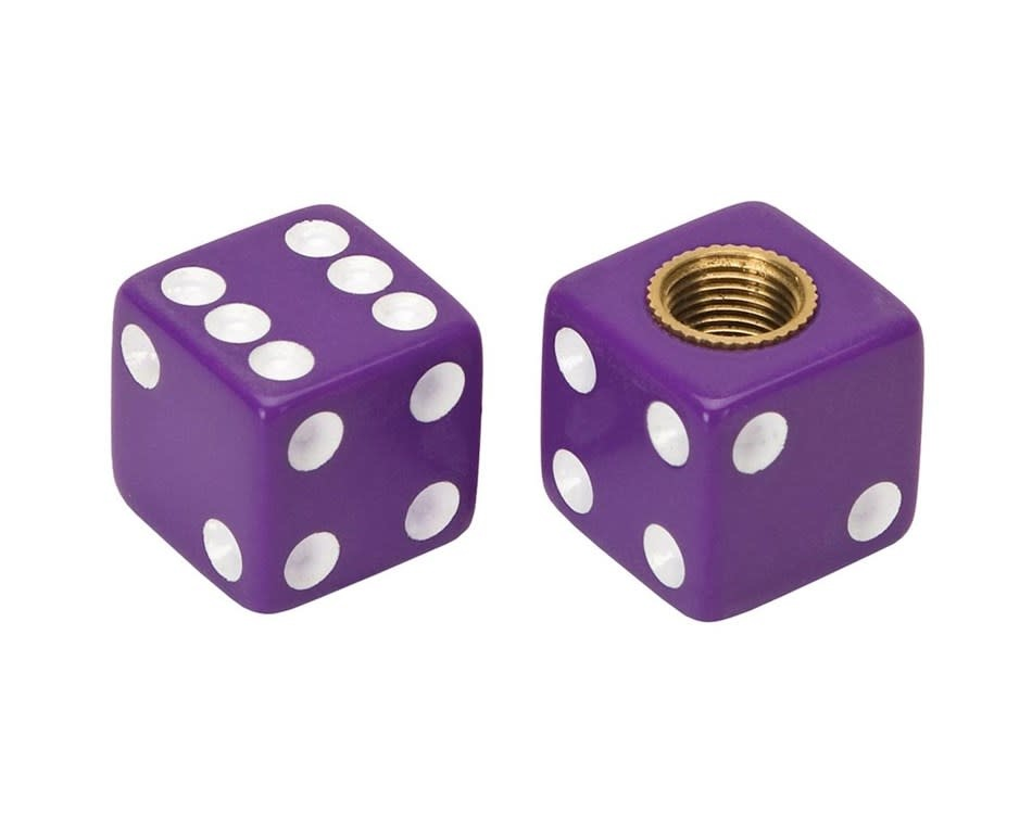 Trik Topz Valve Caps  - Dice - Purple