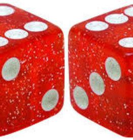 Trik Topz Valve Caps  - Dice - Glitter Red