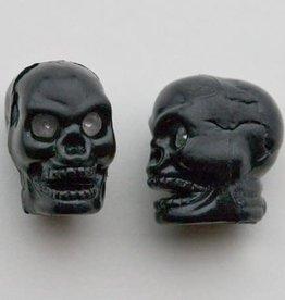 Trik Topz Valve Caps - Skull Head - Black