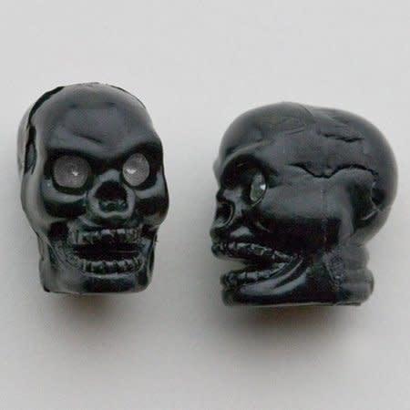 Trik Topz Valve Caps Trik - Skull Head - Black