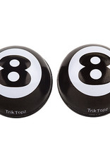 Trik Topz Valve Caps - Eight Ball - Black