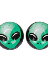 Trik Topz Valve Caps - Alien - Green