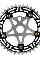 SE BIKES Chainring 1pc 39T w/Spider Black/Silver