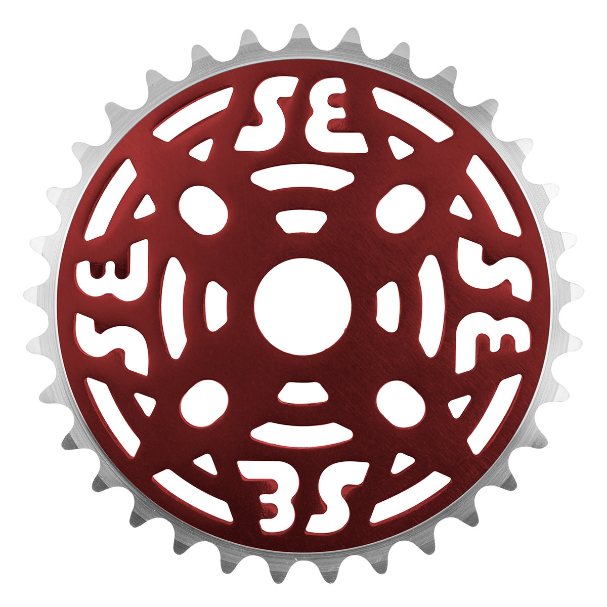 "SE BIKES Chainwheel 1pc 33T 1/8"" Red"