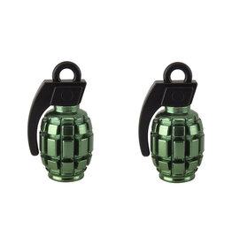 Valve Caps Grenade Green