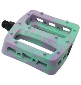 """Pedals 9/16"""" BMX Twisted Pro PC Lavender/Toothpaste Swirl"""