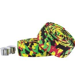Serfas Bar Tape Cork Red/Green/Yellow Camo