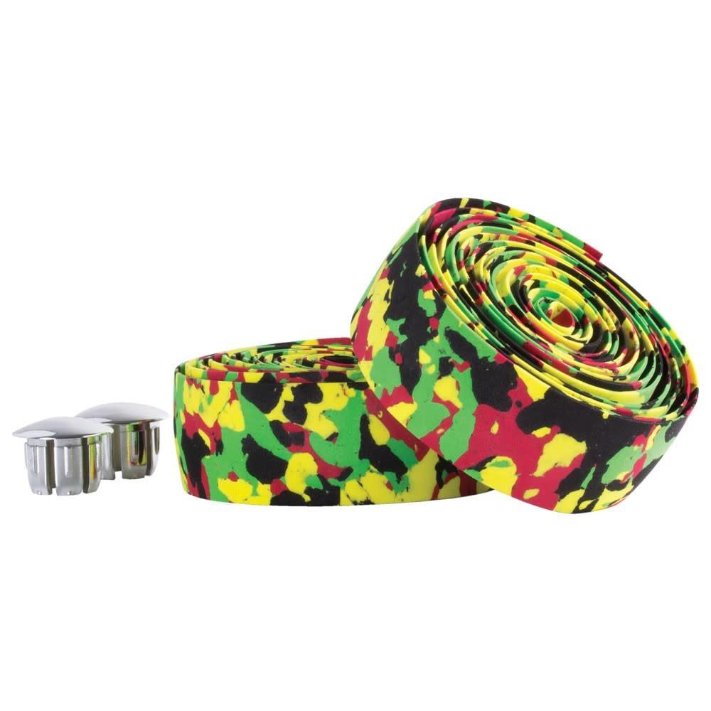 Bar Tape Cork Red/Green/Yellow Camo