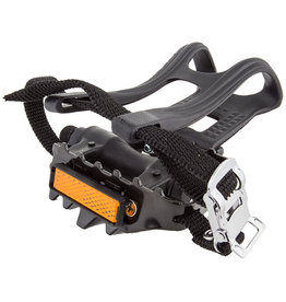 "Pedals 9/16"" MTB w/ clips and straps"