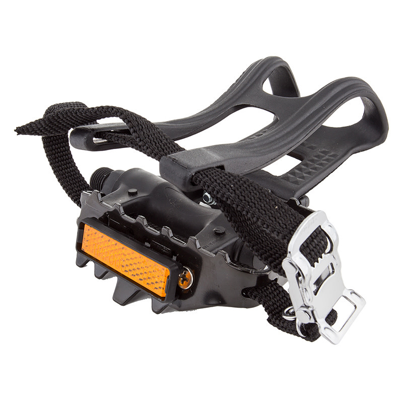 """Pedals 9/16"""" MTB w/ clips and straps"""