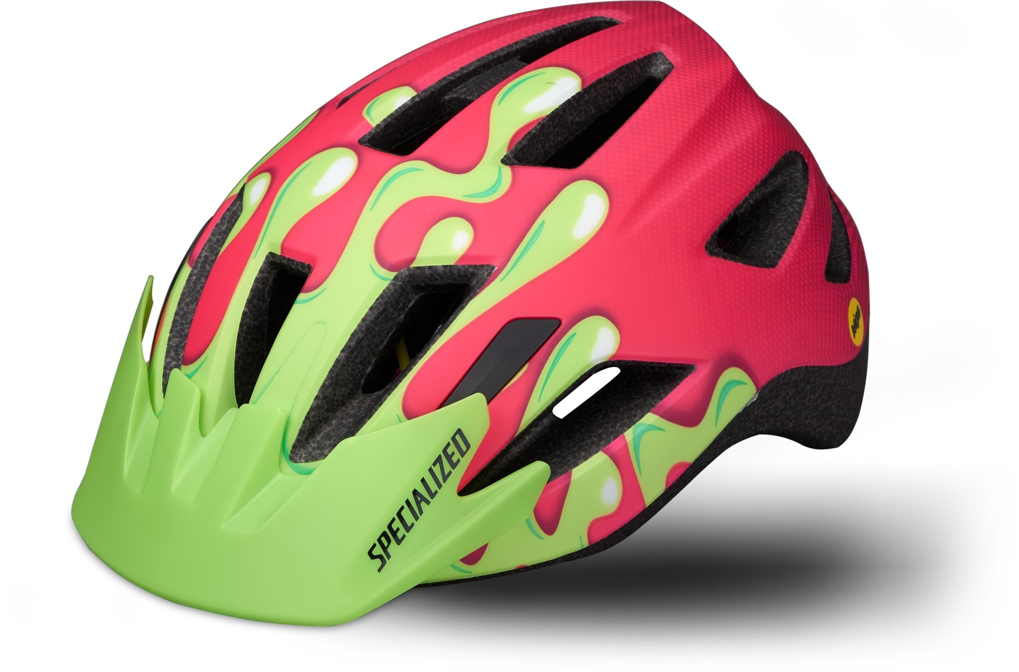 Specialized Helmet Shuffle Youth LED MIPS Acid Pink Slime