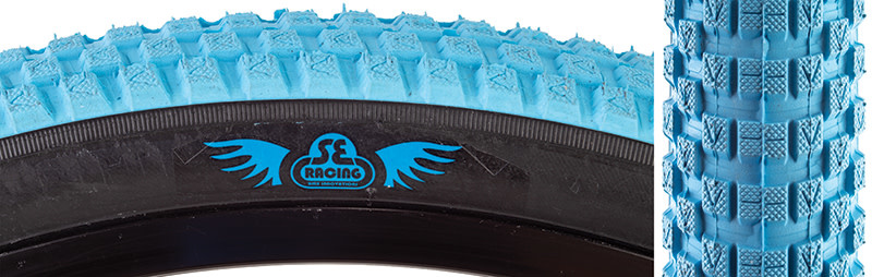 SE BIKES Tire 24 x 2.0 Cub Light Blue/Black