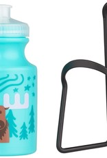 Kids Water Bottle and Cage Kit - Moose w/ Black Cage