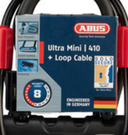 "ABUS U-Lock Ultra 410 Mini 5.5"" + Cobra Cable #8"