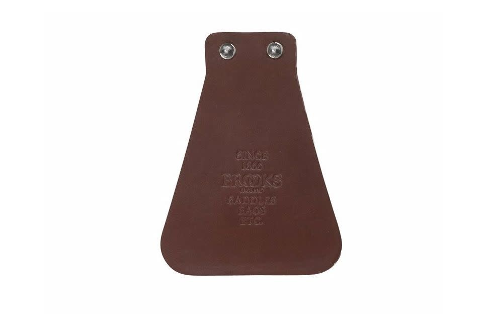 Brooks Leather Mud Flap Antique Brown