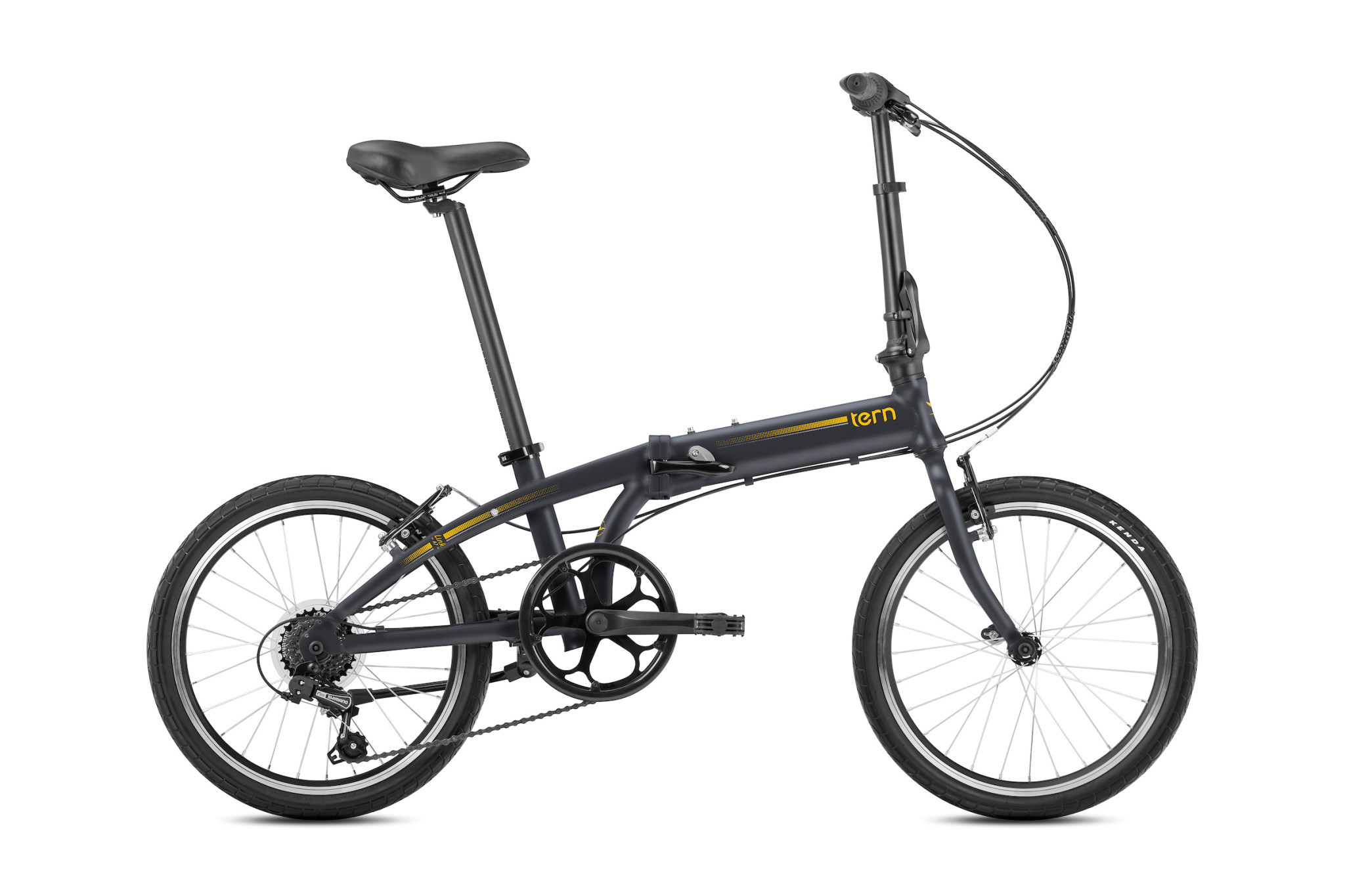 Tern Link A7 Folding Bike Dark Grey