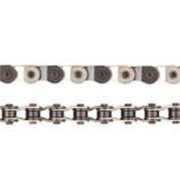 "Chain 1s 1/8"" Half Link Silver/Black"