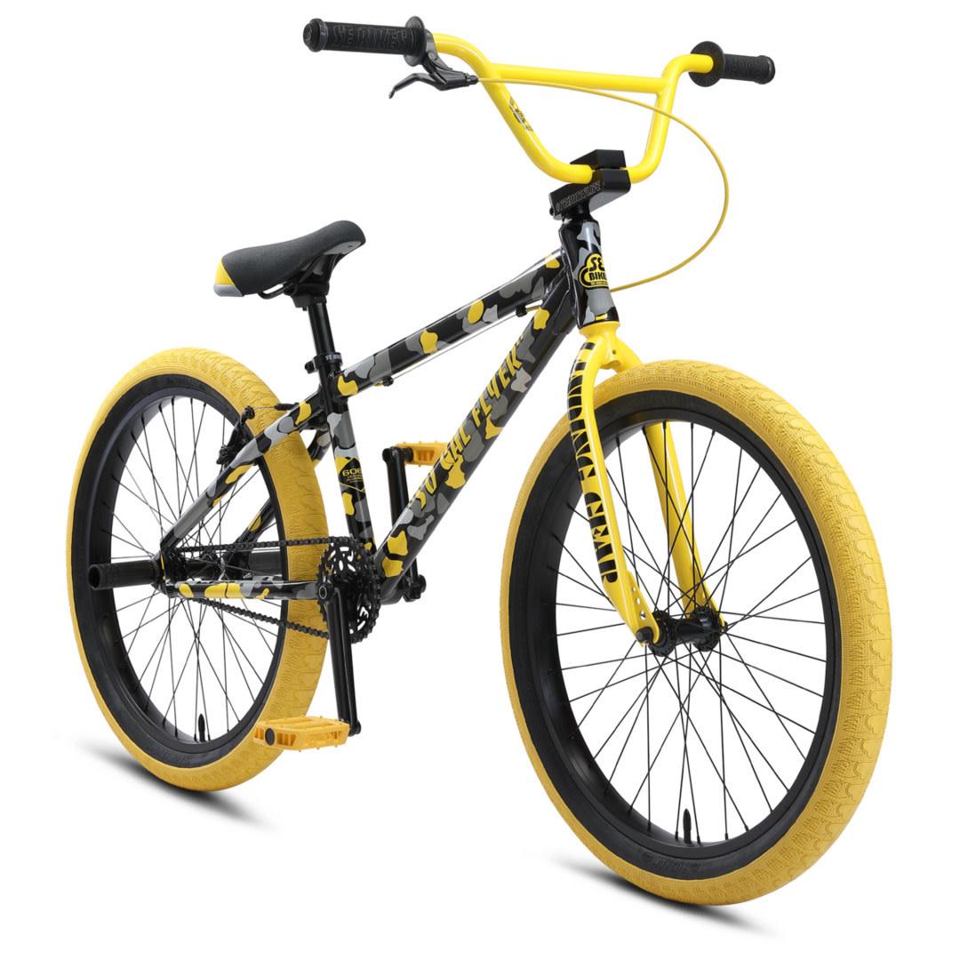 SE BIKES So Cal Flyer 24 Yellow Camo