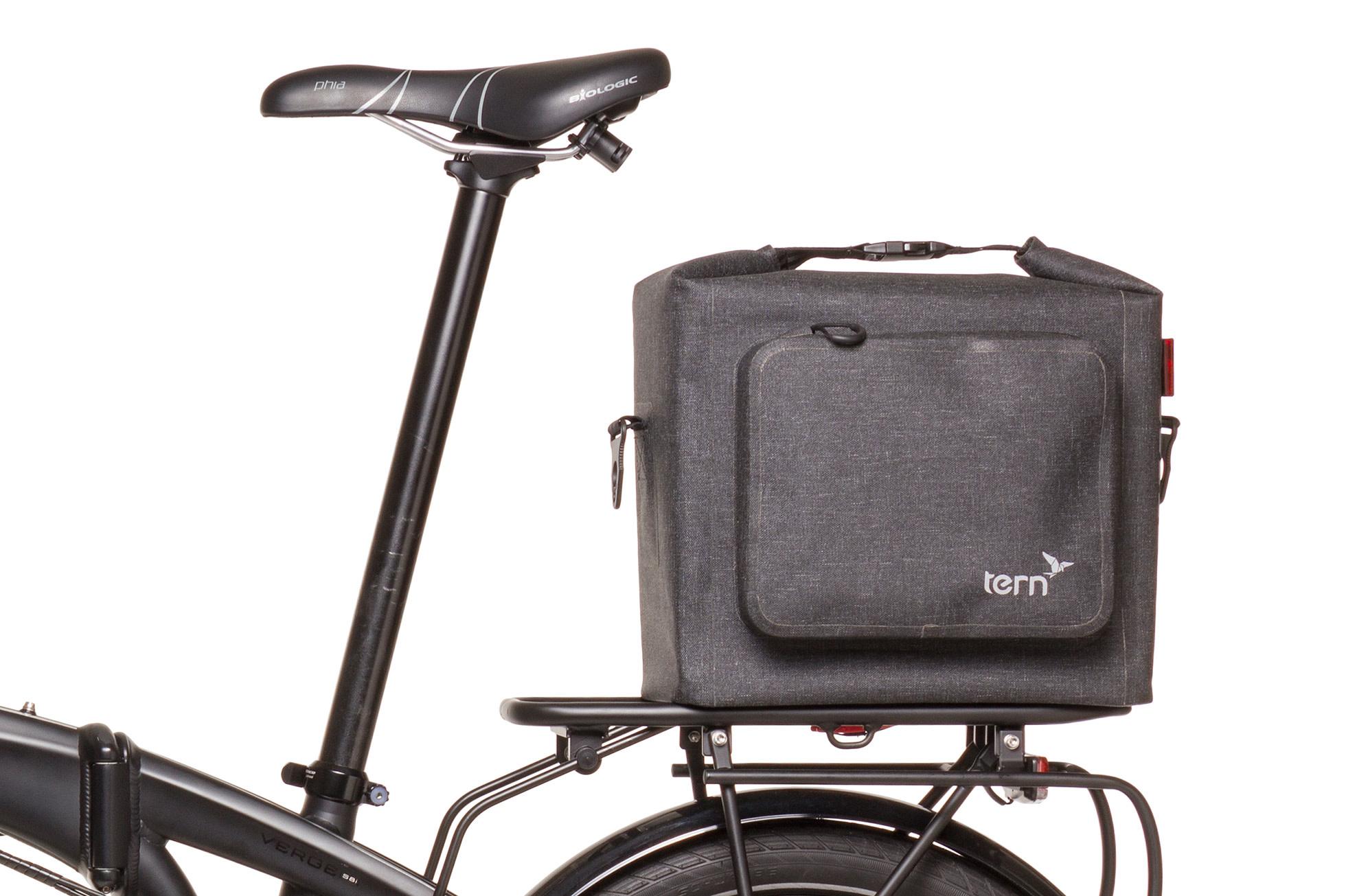 Tern Rear Rack Dry Goods Bag Tweed Black