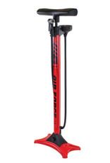 Floor Pump Tier 3 Smart Head W/ gauge Red