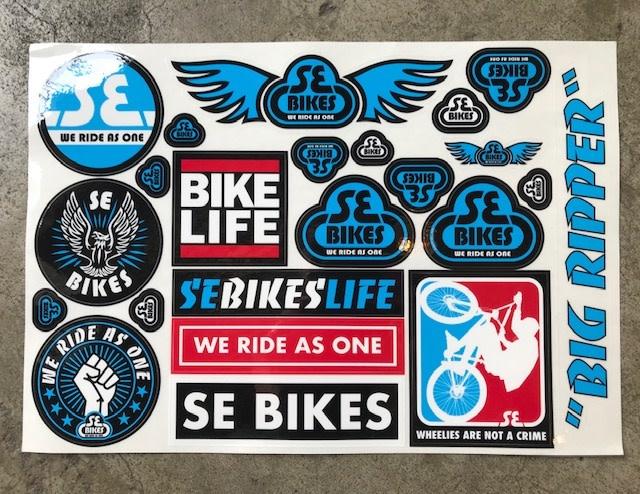 SE BIKES Sticker Set BMX Bike Life