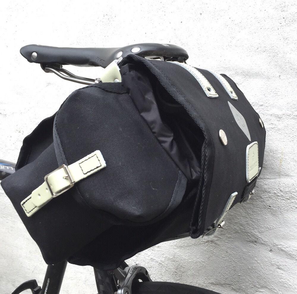 Carradice Nelson Long Flap Saddlebag Black 18L