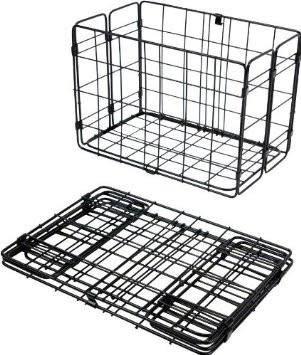 Wald Basket Rear Folding 582 Black