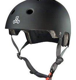 Triple 8 Helmet Brainsaver Black Rubber S/M