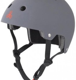Triple 8 Helmet Brainsaver Gray Rubber L/XL