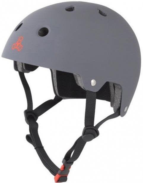 Triple 8 Helmet Brainsaver Gray Rubber XS/S