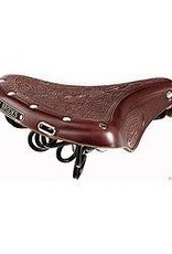Brooks B18 Saddle Embossed - Antique Brown