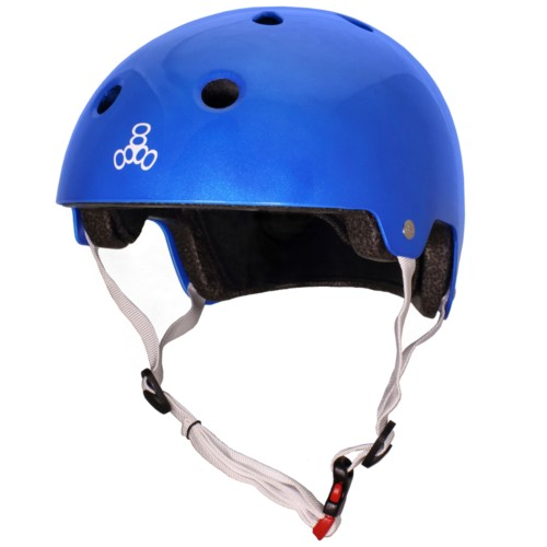 Triple 8 Helmet Brainsaver Metallic Blue S/M