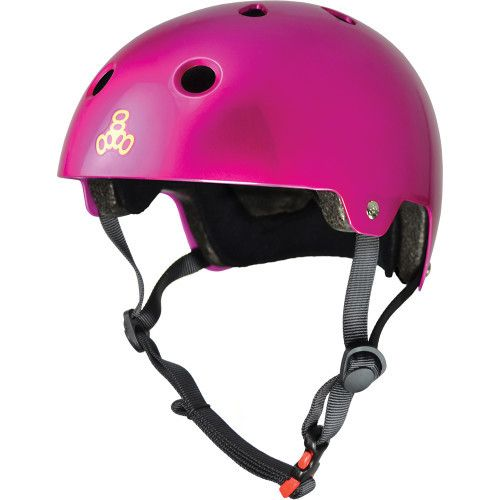 Triple 8 Helmet Brainsaver Metallic Pink L/XL