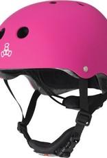Triple 8 Helmet Lil 8 Neon Pink Rubber