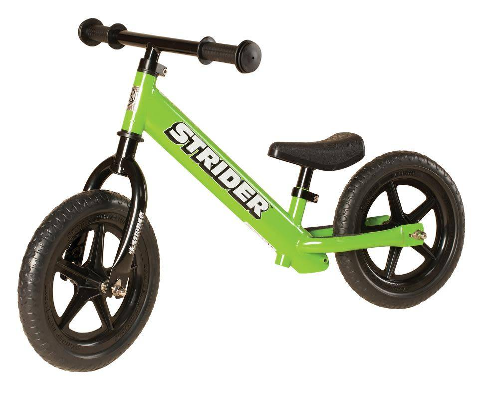 Strider Sports 12 Classic Balance Bike Green