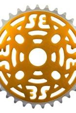 "SE BIKES Chainwheel 1pc 33T 1/8"" Gold"